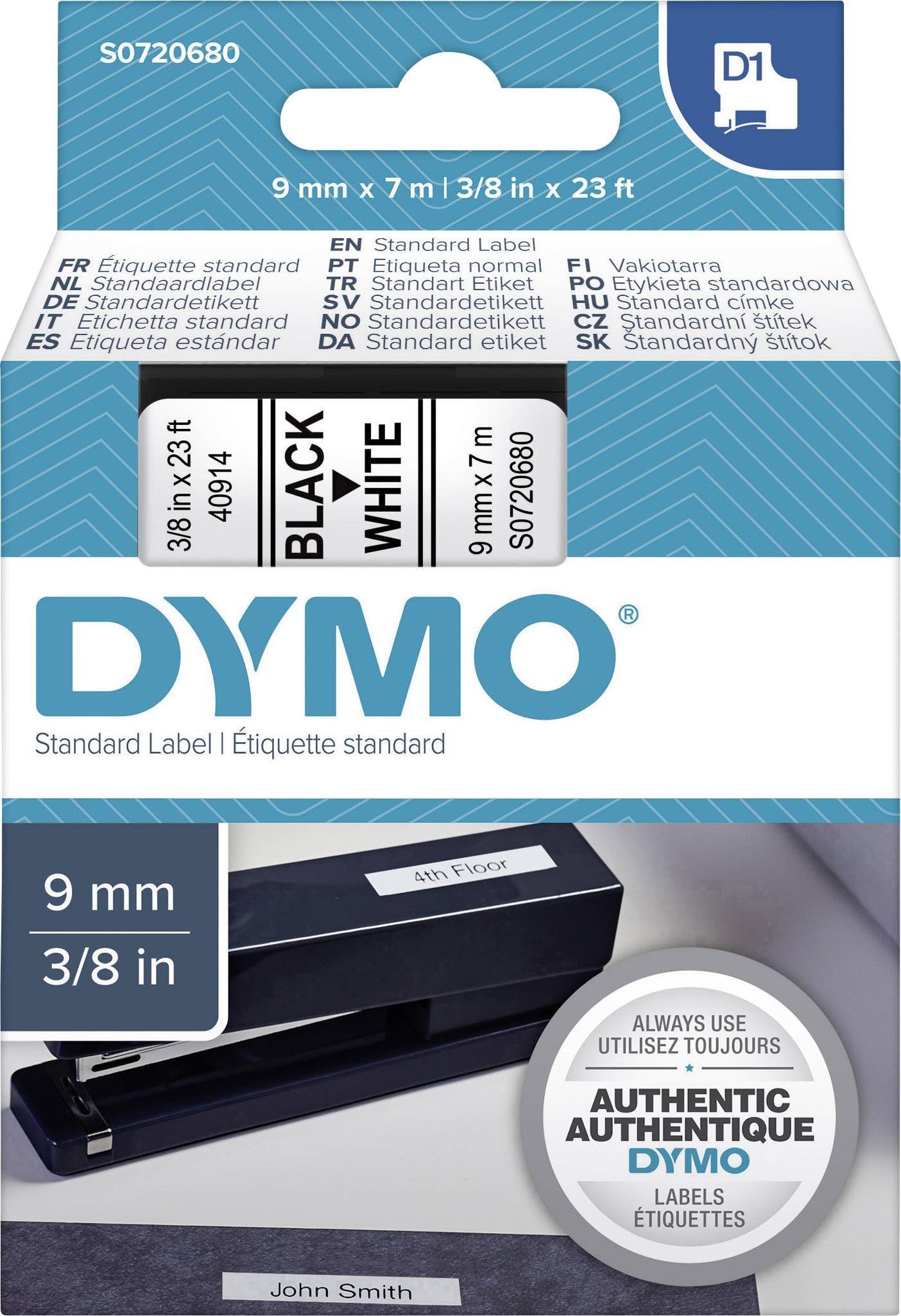 DYMO® Beschriftungsband D1//S0720680 9mm schwarz weiß