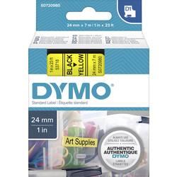 Páska do štítkovače DYMO 53718 (S0720980), 24 mm, D1, 7 m, černá/žlutá