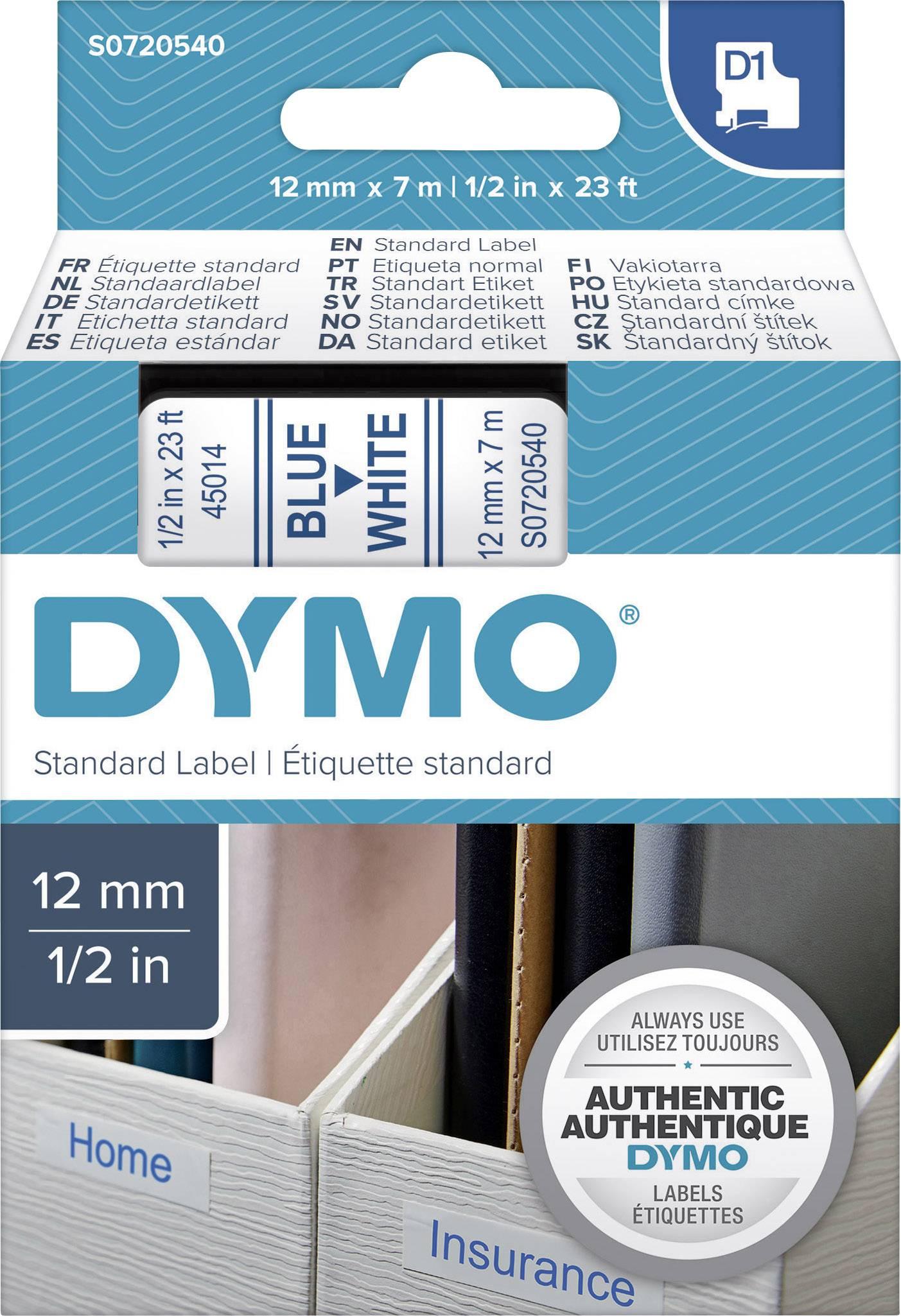 2x Schriftband kompatibel zu Dymo 45013 D1 schwarz auf wei/ß 12mm x 7m f/ür Dymo LabelManager LabelPoint LabelWriter 160 280 260P 360D 500TS LabelWriter 450 DUO Beschriftungsger/ät