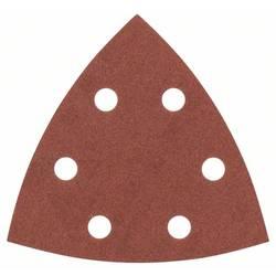 Brúsny papier pre delta brúsky Bosch Accessories 2607017110 na suchý zips, s otvormi, Zrnitosť 240, 25 ks