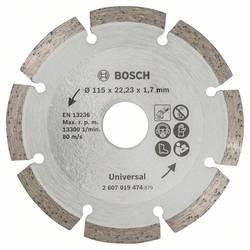 Diamantový rezací kotúč na stavebný materiál, priemer: 115 mm Bosch Accessories 2607019474, 1 ks