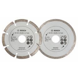Diamantový rezací kotúč na dlaždice a stavebné materiály, priemer: 115 mm, dvojbalenie Bosch Accessories 2607019478, 1 ks