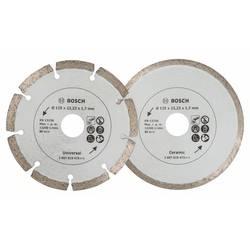 Diamantový rezací kotúč na dlaždice a stavebné materiály, priemer: 125 mm, dvojbalenie Bosch Accessories 2607019484, 1 ks