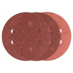 Sada brúsneho papiera pre excentrické brúsky Bosch Accessories 2607019496 na suchý zips, s otvormi, Zrnitosť 80, 120, 240, (Ø) 115 mm, 1 sada