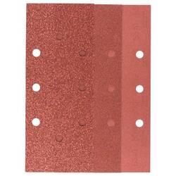 Sada brúsneho papiera Bosch Accessories 2607019501 s otvormi, Zrnitosť 60, 80, 120, 240, (d x š) 230 mm x 93 mm, 1 sada