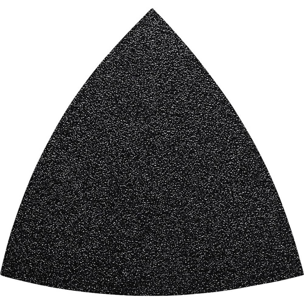 Feuille abrasive Delta avec bande auto-agrippante, non perforé Fein 63717085045 Grain 120 Cote dencoignure 80 mm 5 pc(s)