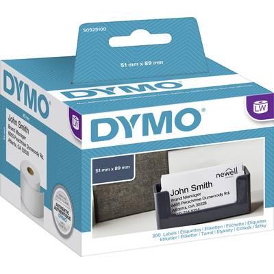 Dymo Etiketten Rolle S0929100 S0929100 89 X 51 Mm Papier Weiß 300 St Nicht Klebend Terminkarten Visitenkarten