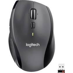 Laserový/á Wi-Fi myš Logitech M705 Marathon 910-001949, ergonomická, čierna, strieborná