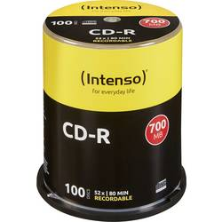 Image of Intenso 1001126 CD-R 80 Rohling 700 MB 100 St. Spindel