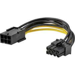 Image of Akasa Strom Anschlusskabel [1x PCIe-Stecker 6pol. - 1x PCIe-Stecker 8pol.] 10.00 cm Gelb, Schwarz