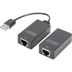 USB 1.1 extender (predĺženie) cez sieťový kábel RJ45, Digitus DA-70139-2, 45 m, N/A