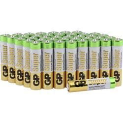 Mikrotužková batérie typu AAA alkalicko-mangánová GP Batteries Super, 1.5 V, 40 ks