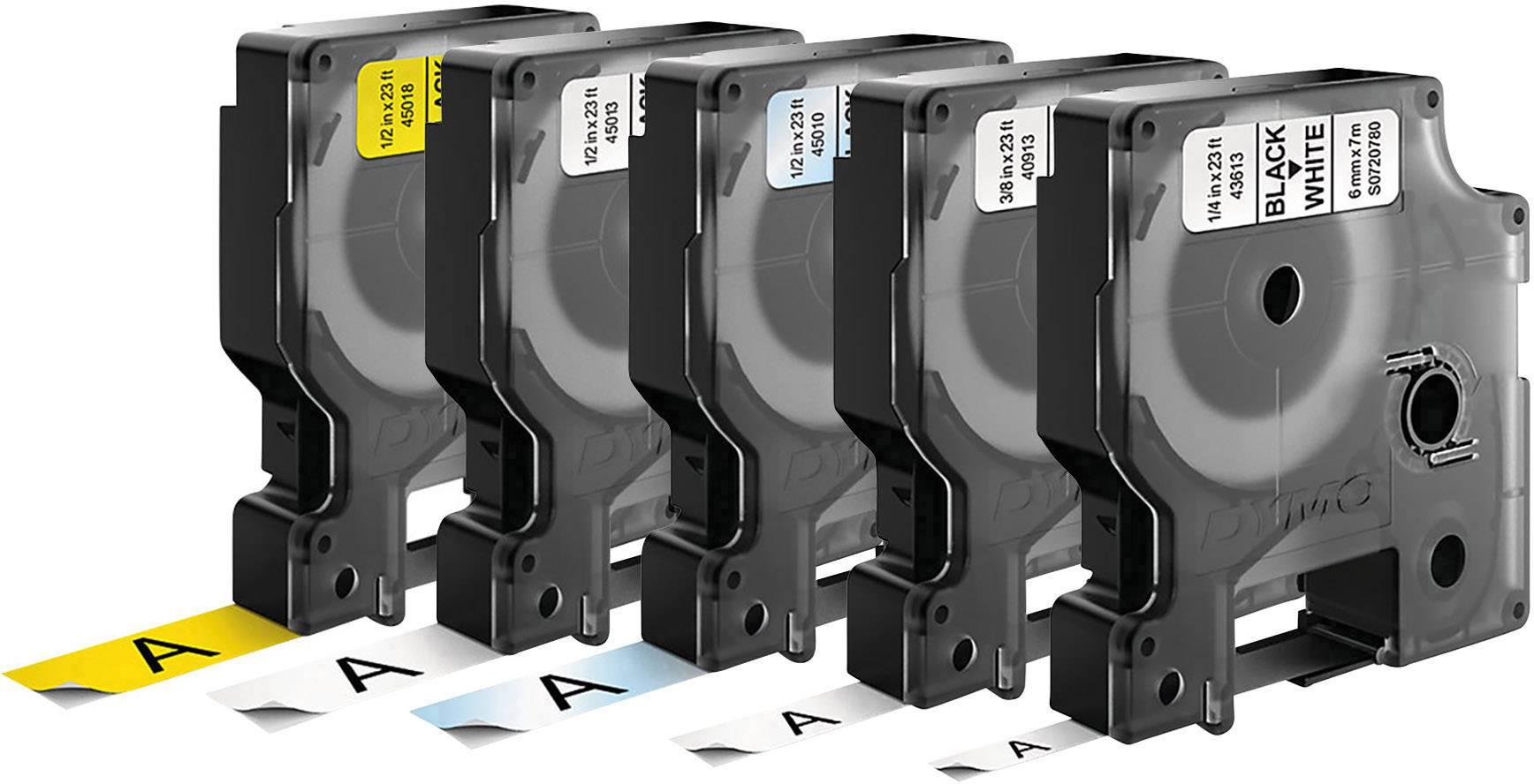 G/&G Schriftband kompatibel zu Dymo D1// 40913// S0720680 9mm x 7m schwarz auf weiß