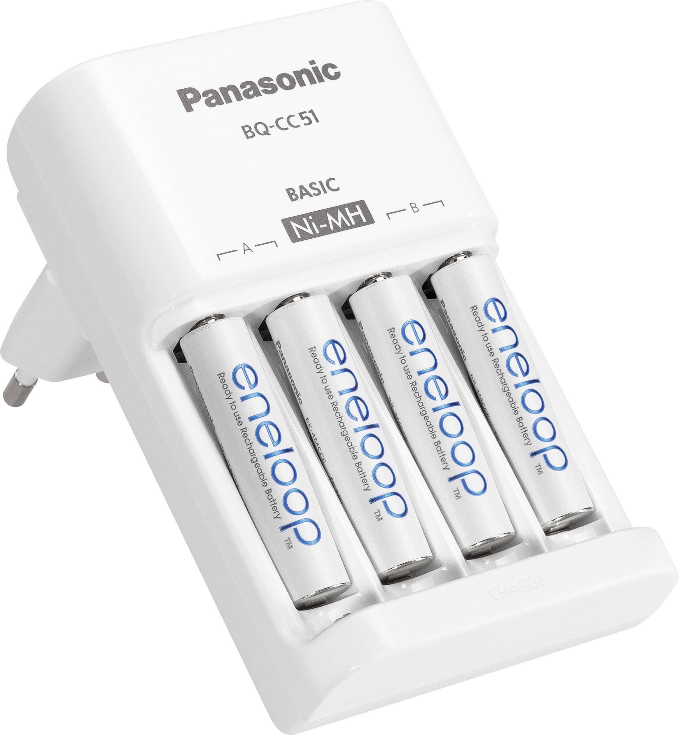 Akkus Micro Mignon AAA Panasonic BQ-CC55E Rundzellen-Ladegerät NiMH inkl AA