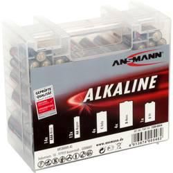 Image of Ansmann Batterie-Set Micro, Mignon, Baby, Mono, 9 V Block 35 St. inkl. Box