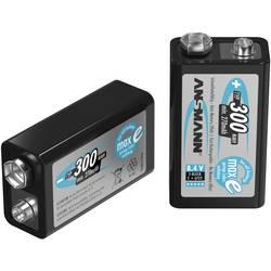 9 V akumulátor Ni-MH Ansmann maxE 6LR61 5035453, 300 mAh, 8.4 V, 1 ks
