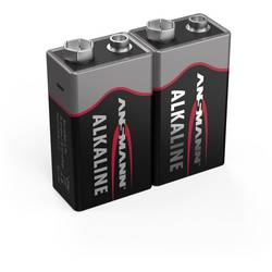 Image of Ansmann 6LR61 Red-Line 9 V Block-Batterie Alkali-Mangan 9 V 2 St.