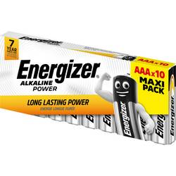 Mikrotužková batérie typu AAA alkalicko-mangánová Energizer Power LR03, 1.5 V, 10 ks