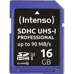 Pamäťová karta SDHC, 16 GB, Intenso Professional, Class 10, UHS-I