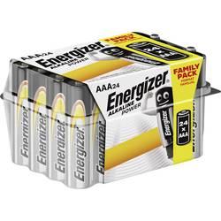 Mikrotužková batérie typu AAA alkalicko-mangánová Energizer Power LR03, 1.5 V, 24 ks