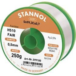 Pájecí cín Stannol HS10-Fair, cívka, 250 g, 0.5 mm