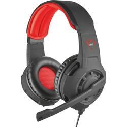 Trust GXT 310 herný headset jack 3,5 mm káblový, stereo cez uši čierna, červená