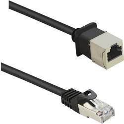 Sieťový predlžovací kábel RJ45 Renkforce RF-4394130, CAT 5e, F/UTP, 3.00 m, čierna
