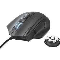 Optická USB herná myš Trust GXT 155 20411, integrovaný scrollpad, čierna