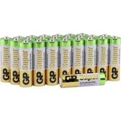 Tužková baterie AA alkalicko-manganová GP Super 1.5 V, 24 ks - GP Super Alkaline AA 24ks 03015AB24