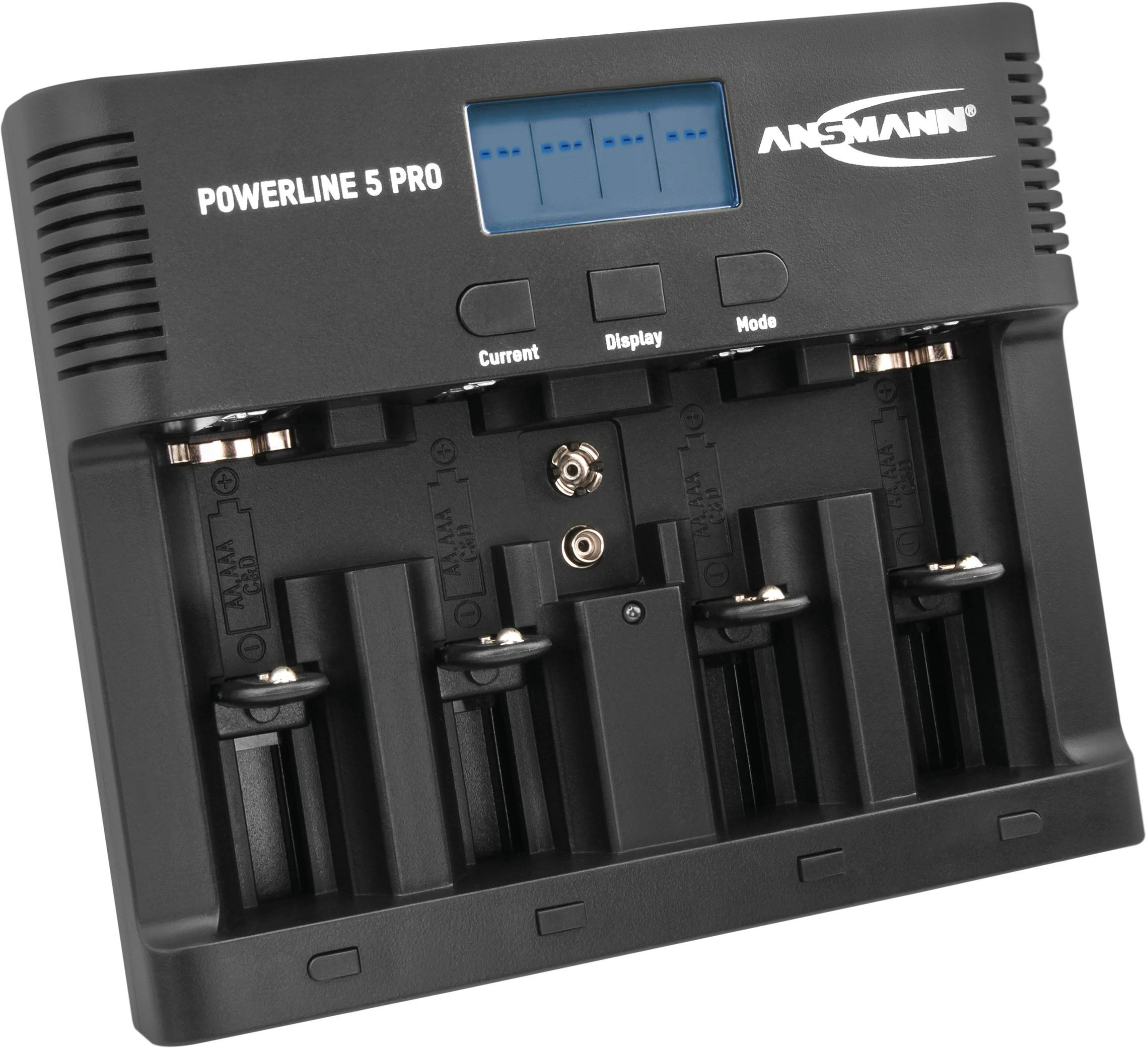 Ansmann Powerline 8 Rundzellen Ladegerät NiCd, NiMH Micro