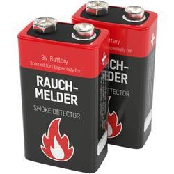 Image of Ansmann Rauchmelderbatterie 9 V Block-Batterie Alkali-Mangan 9 V 2 St.