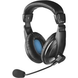 Headset k PC Trust Quasar cez uši jack 3,5 mm káblový čierna