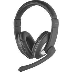 Headset k PC Trust Reno cez uši jack 3,5 mm káblový, stereo čierna