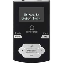 DAB+ kapesní rádio Renkforce DAB-POCKET, DAB+, černá