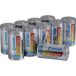 Image of Conrad energy Baby (C)-Batterie Alkali-Mangan 7500 mAh 1.5 V 10 St.