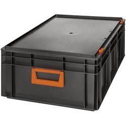 Skladacie plastové puzdro Alutec Magnus PC 42 139242210188, (š x v x h) 600 x 233 x 400 mm, čierna, oranžová