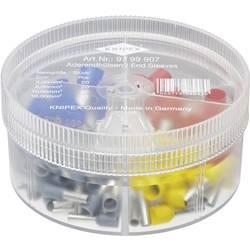 Sada dutiniek Knipex 97 99 907, box na drobné súčiastky, úplne izolované, sivá, žltá, červená, modrá, 100 ks