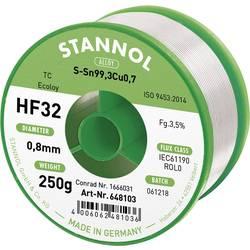 Spájkovací cín bez olova Stannol HF32 3,5% 0,8MM SN99CU0,7 CD 250G, Sn99,3Cu0,7, bez olova, 250 g, 0.8 mm
