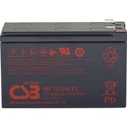 Olovený akumulátor CSB Battery HR 1234W high-rate HR1234WF2, 8.4 Ah, 12 V