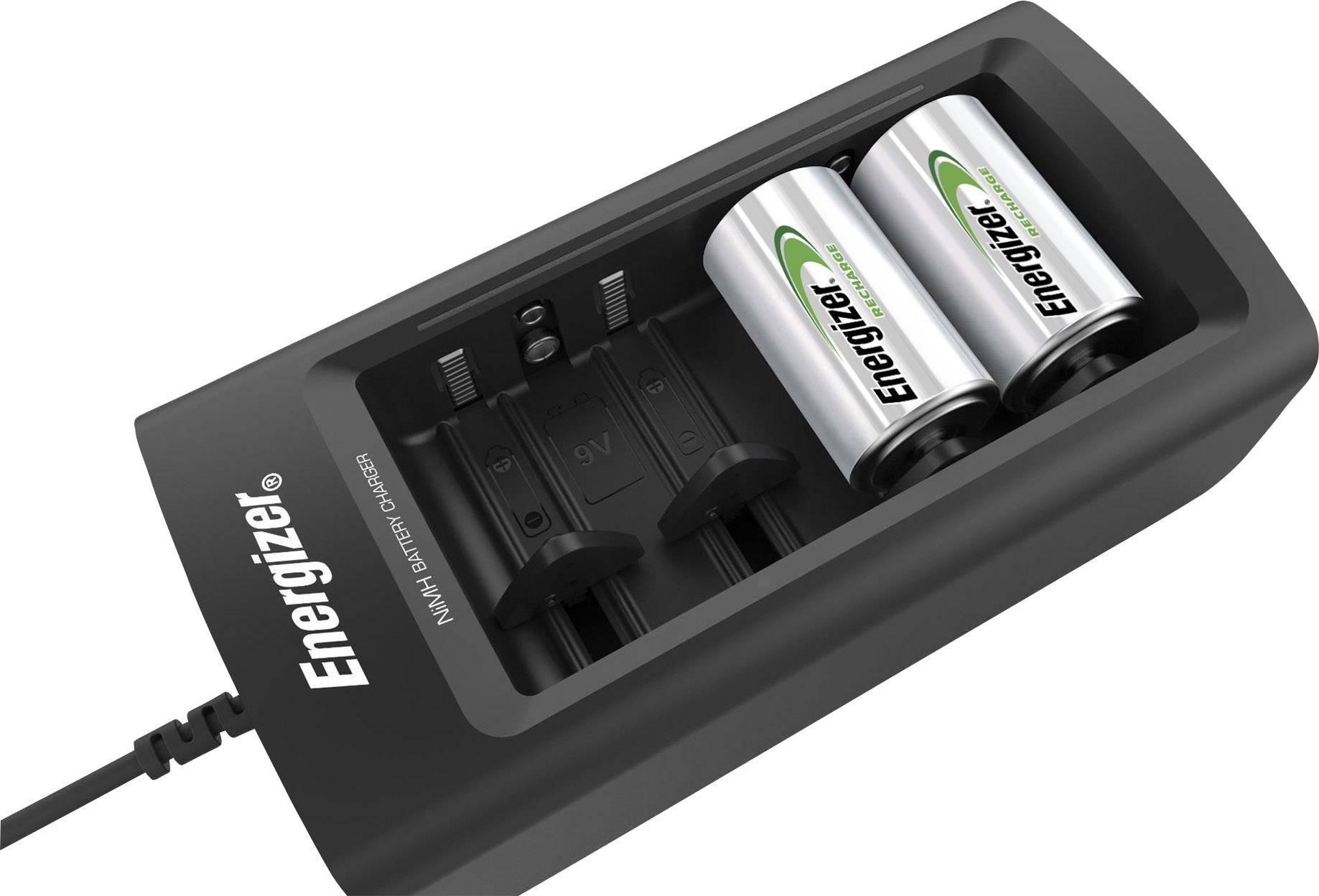 Energizer Universal Rundzellen Ladegerät NiMH Micro (AAA), Mignon (AA), Baby (C), Mono (D), 9 V Block