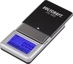 Kapesní váha VOLTCRAFT PS-200 Max. váživost 200 g Rozlišení 0.01 g na baterii černá, stříb