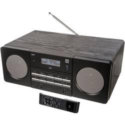 DAB+ rádio s CD prehrávačom Dual DAB 410 BT, AUX, Bluetooth, CD, UKW, USB, čierna