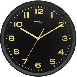 DCF nástenné hodiny Techno Line WT 8500-1 gold, vonkajší Ø 30 cm, čierna