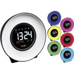 Quartz budík TFA Dostmann Mood Light 60.2023.02, časov budenia 1, biela, modrá, žltá, zelená, ružová, červená, svetlomodrá