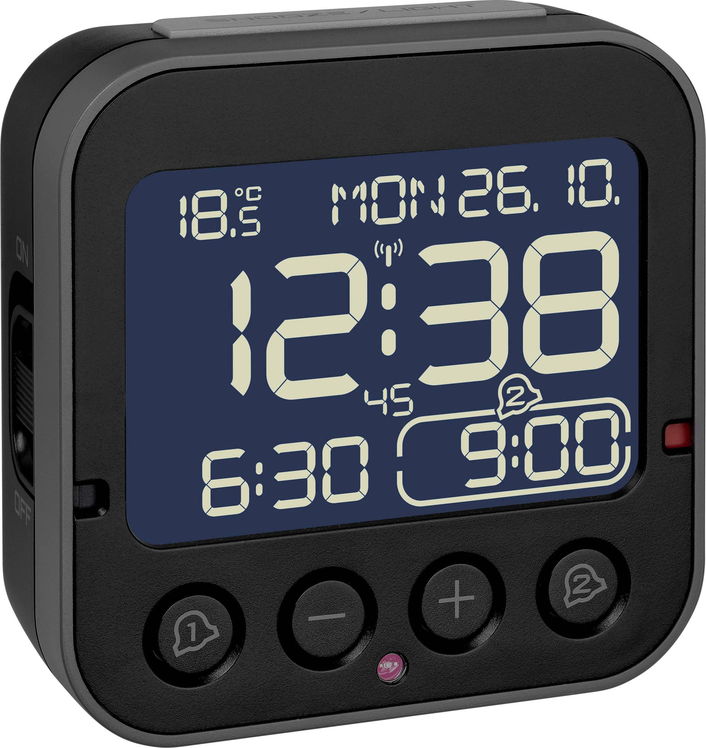 2 2552 Alarmzeiten Tfa Wecker Schwarz 60 01 Funk 8PwNOn0kX