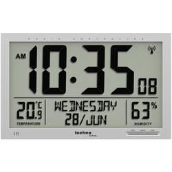 DCF nástenné hodiny Techno Line WS 8013 WS 8013, strieborná