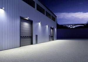 Lighted storage hall