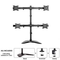 """Stolový držiak monitoru Neomounts by Newstar NM-D335D4BLACK, 25,4 cm (10"""") - 68,6 cm (27""""), čierna"""