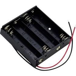 Bateriový držák na 4x AAA Takachi MP44, kabel, (d x š x v) 51 x 49 x 11 mm