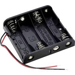 Bateriový držák na 4x AA Takachi SN34, kabel, (d x š x v) 61.9 x 57.2 x 15 mm